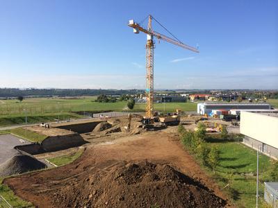 Construction of the SCHAUFLER Academy, the international training center at the Rottenburg-Ergenzingen location, kicked off in August 2014