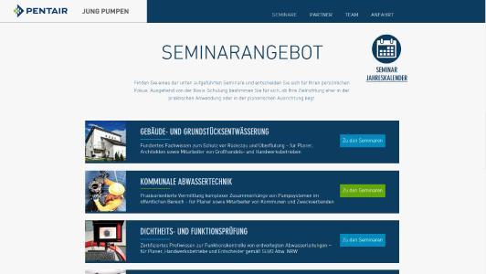 Seminarprogramm 2017 ist Online - Pentair JUNG PUMPEN GmbH ...