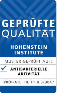 Das Qualitätslabel für Antibakterielle Aktivität der Hohenstein Institute, Bild: Hohenstein