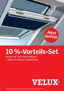 Mit aufmerksamkeitsstarken Werbemitteln wie etwa Postern unterstützt VELUX von April bis Juni 2009 Handwerk und Handel beim Verkauf des 10 Prozent-Vorteil-Sets