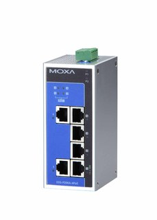 Moxa erweitert mit neuen PoE+ Industrial Ethernet Switches sein Power-over-Ethernet-Portfolio