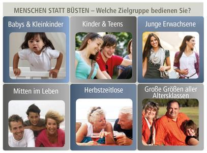 Menschen statt Büsten – Welche Zielgruppe bedienen Sie? © Hohenstein Institute