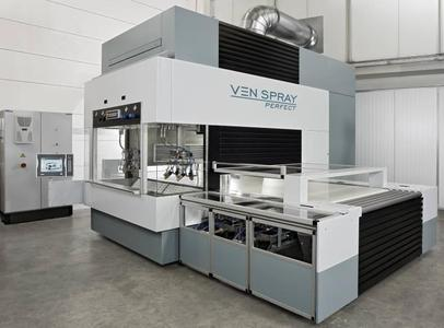 Together with two different coating companies, Venjakob will perform coating demonstrations with the Ven Spray Perfect daily at the Ligna / Photo: Venjakob