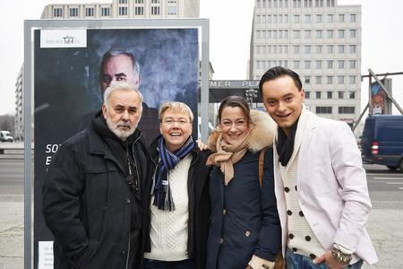 v.l.n.r.: Udo Walz, Sabine Werth, Stefanie Wall, Julian F.M. Stoeckel, Foto: Wall AG