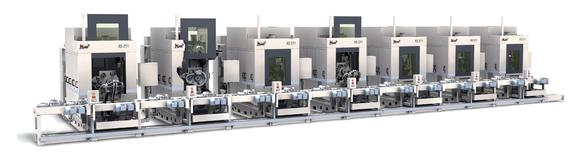 Chinesische Zylinderköpfe- und -kurbelgehäuse auf MAG-Maschinen:  Der größte chinesische Minivan- und Kleintransporterproduzent SGMW in Qingdao fertigt auf CNC-Bearbeitungszentren XS 211 und XS 231 von MAG Powertrain