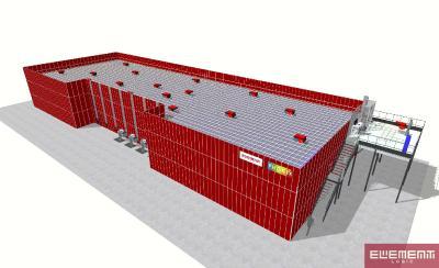 3D-Visualisierungen der fertigen AutoStore Anlagen der Phönix GmbH