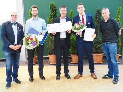 Best Master Theses in Mathematics: Happy Award Winners and Companions