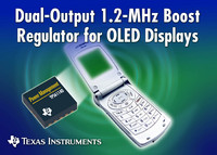 TI Introduces Dual-Output Boost Converters for OLED and White LED Displays