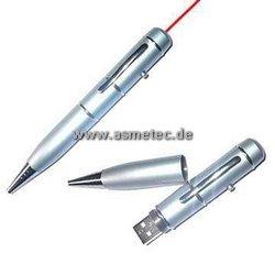 Kugelschreiber mit USB-Stick und Laserpointer