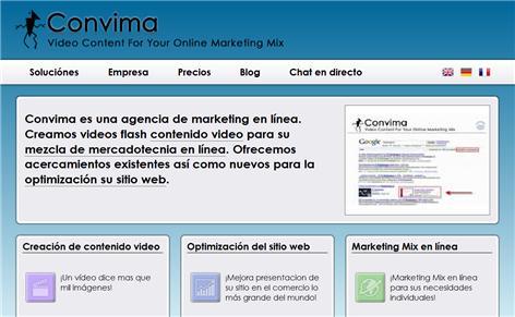 Convima - Contenido Video Por Su Marketing Mix En Línea