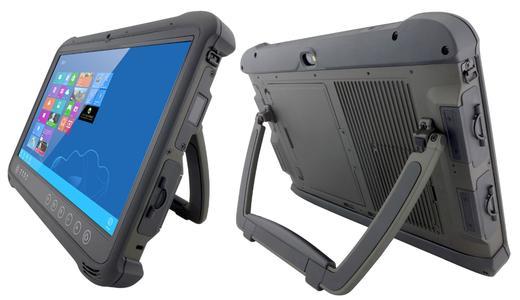 Der extrem robuste Industrie-Tablet M133W von TL Electronic setzt die neueste Multitouch-Technologie ein und lässt sich auch mit Handschuhen und im Regen bedienen.