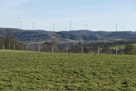 Blick auf den Windpark Kohlenstraße