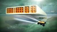 Absenken und Verbinden der Tunnelelemente