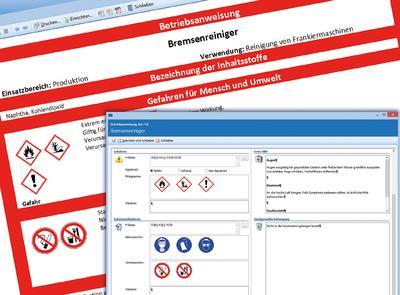 ConSense Gefahrstoffmanagement: Mit Piktogrammen und Textbausteinen schnellund einfach Betriebsanweisungen erstellen