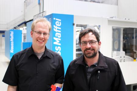 Marco Gänßlen (l.) und Paul Anner, KraussMaffei, München (Foto: wortundform)