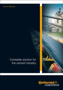 "In the 12-page brochure ""Complete Solution for the Cement Industry"", ContiTech presents the advantages of the individual conveyor belts for all production phases – from the quarry through to dispatch"