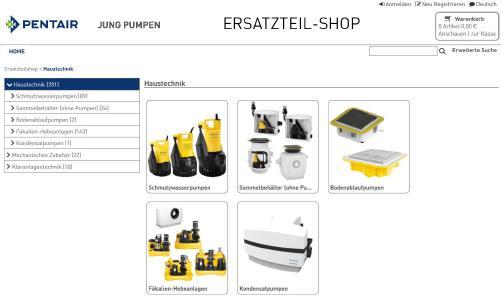 Ersatzteil-Webshop in neuem Gewand (Foto: Pentair JUNG PUMPEN GmbH)