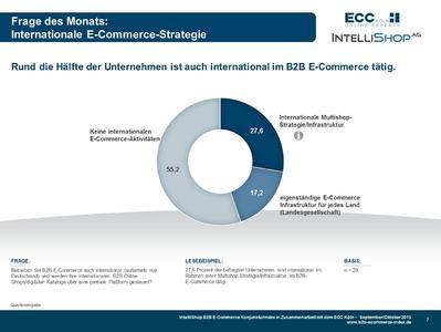 B2B E-Commerce Konjunkturindex- Internationale E-Commerce Strategie