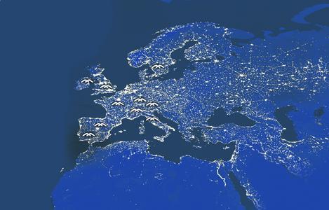 Masternaut-Standorte. Bild: Masternaut Deutschland