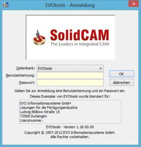Werkzeugverwaltung EVOtools als spezielle SolidCAM-Edition