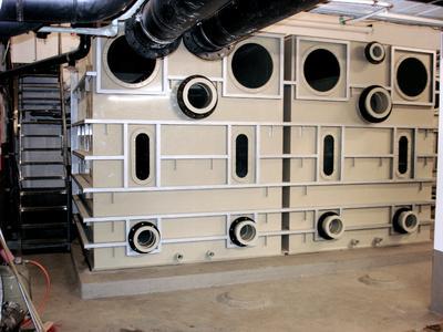 Vor-Ort-Montage eines drucklosen Filtersystems