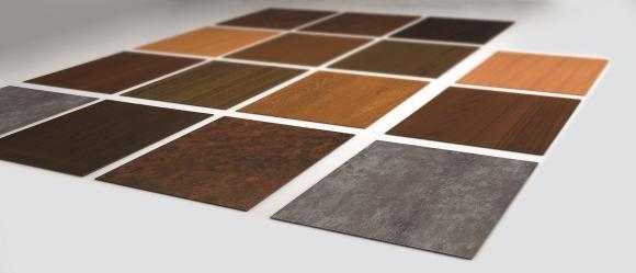 Les différents designs de la méthode de revêtement par poudre heroal SD offrent un aspect raffiné bois et béton. La quasi-totalité des designs souhaités peut être réalisée / © heroal