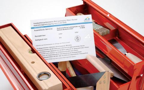 MRN Handwerkerparkausweis Werkzeugkasten / © MRN GmbH