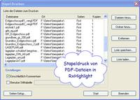 Stapel-Drucken mit RxHighlight