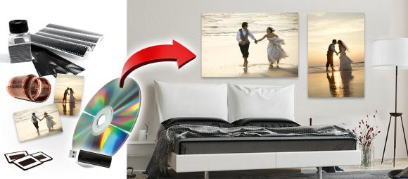 Mit digitalspezialist können die alten Fotoschätze digitalisiert, geteilt und als Wandbild verewigt werden. (Copyright: digitalspezialist)