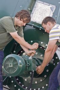 Montage Biogasanlage