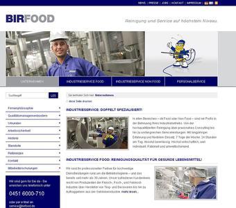 BIRFOOD, Spezialist für professionelle Industriereingung, ist mit einer neuen Website online.