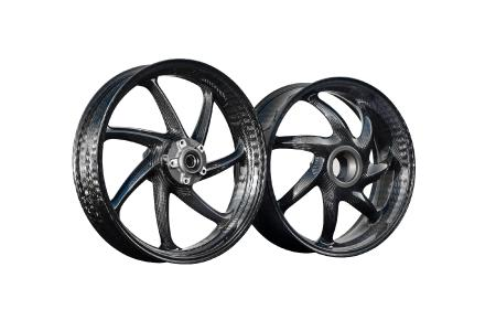The thyssenkrupp carbon wheels for single-sided swingarm motorcycles are now available for purchase around the world