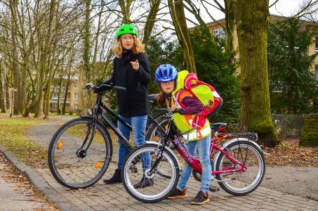 Schulweg mit dem Fahrrad
