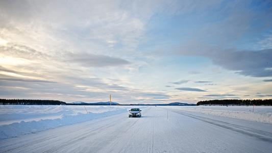 Continental's test track in Arvidsjaur, Sweden