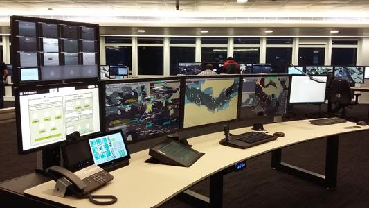 A Crestron interface is used to control a Draco tera compact KVM matrix switch at the Israeli Ministry of Transportation 24/7 Rescue Coordination Centre (RCC) in Haifa; to coordinate vessel movements and coordinate rescue activities in Israeli water / IHSE GmbH