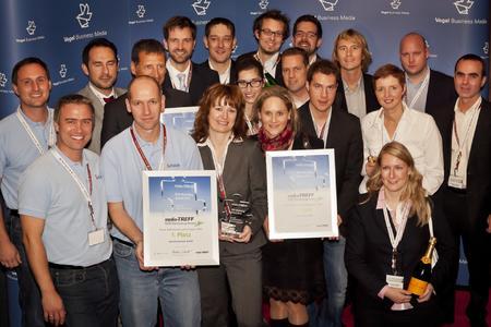 Die Gewinnerteams des media-TREFF-Awards 2012 (Foto: Stefan Bausewein)
