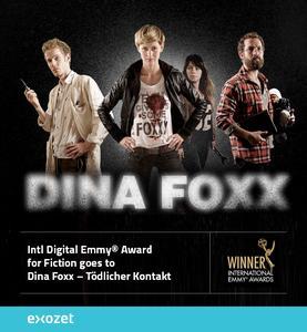 "Digital-Emmy für transmedialen Krimi ""Dina Foxx - Tödlicher Kontakt"""