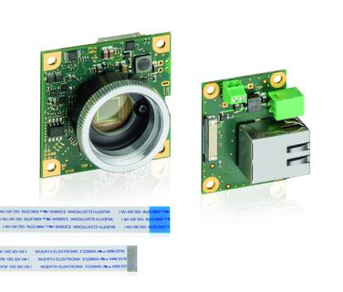GigE board-level camera with remote RJ45 interface