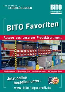 """Der Spezialkatalog Bito-Favoriten enthält Lagertechnik, Kunststoffkästen und Zubehör """"Made in Germany"""""""