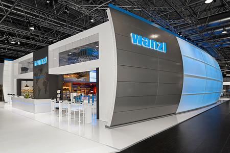 Neue Unternehmenspräsentation von Wanzl in einer Arena
