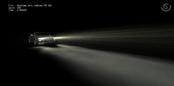Lichtsimulation/ Simulation der Kraftfahrzeugbeleuchtung mit der CFD-Software scFLOW und scSTREAM (Cradle)