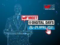 WE meet @ digital days vom 26. bis 29. April 2021 – vier Tage geballtes Know-how des Elektronikspezialisten Würth Elektronik, Bildquelle: Würth Elektronik
