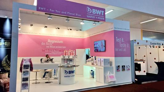 Der Messestand von BWT water+more   Foto: BWT water+more