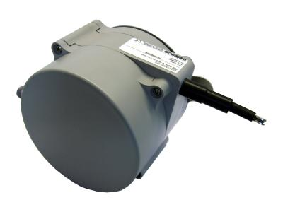 A cable extension sensor used on long travel linear position measurement – typically used for telescopic boom position feedback