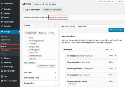 Webdesign Ratgeber: Navigation und Menü in Wordpress anlegen