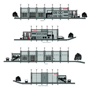 different views of the new FRITSCH production hall