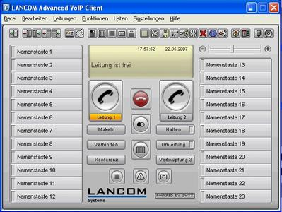 Screenshot LANCOM Advanced VoIP-Client 1.20