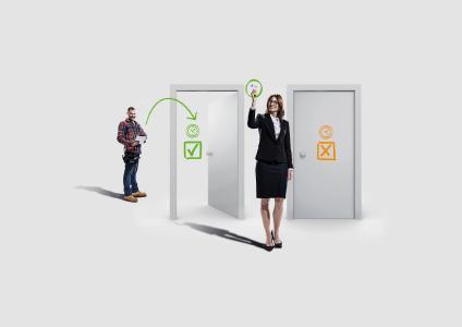 Mit Zutrittslösung exivo einfach Türen öffnen