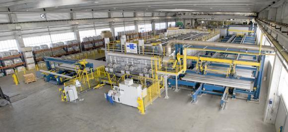 Existing continuous homogenizing plant at Hammerer Aluminium in Romania