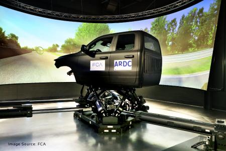 FCA Automotive uses VI-grade's DiM250 simulator for the recently opened Vehicle Dynamics Simulator (VDS) lab in Ontario, Canada